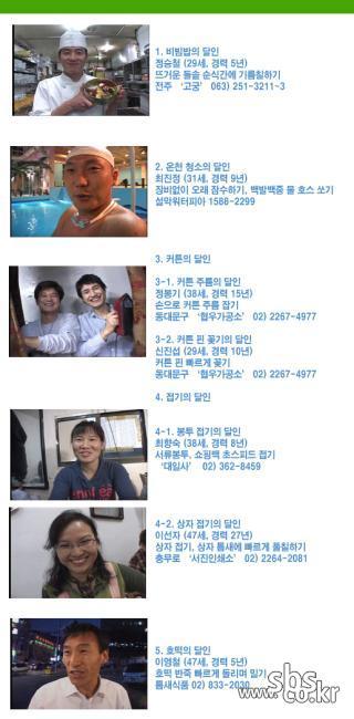 [78회 생활의 달인 출연자] 비빔밥, 온천청소, 커튼,접기,호떡의 달인